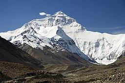 Everest North Face toward Base Camp Tibet Luca Galuzzi 2006