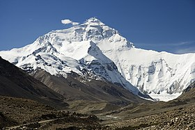 Everest North Face toward Base Camp Tibet Luca Galuzzi 2006.jpg