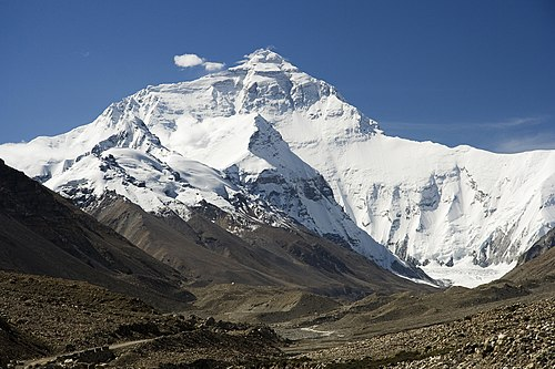 Everest North Face toward Base Camp Tibet Luca Galuzzi 2006