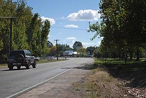 Highways in Australia - The Great Alpine Road passing through Everton, Victoria.
