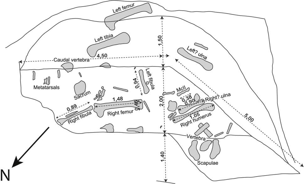 Excavation plan of Vouivria