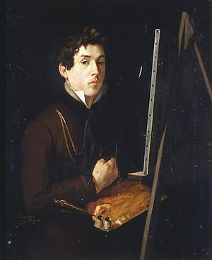 Félix Auvray - Self-portrait, ca. 1819. Now in the Musée des beaux-arts of Valenciennes.