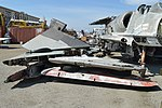 F-4C Phantom II tailplane and A-4 Skyhawk wings - Yanks Air Museum. 28-2-2016 (26400032976).jpg