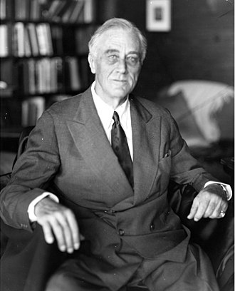 Third and fourth terms of the presidency of Franklin D. Roosevelt - Last photograph of Roosevelt, taken the day before his death (April 11, 1945)