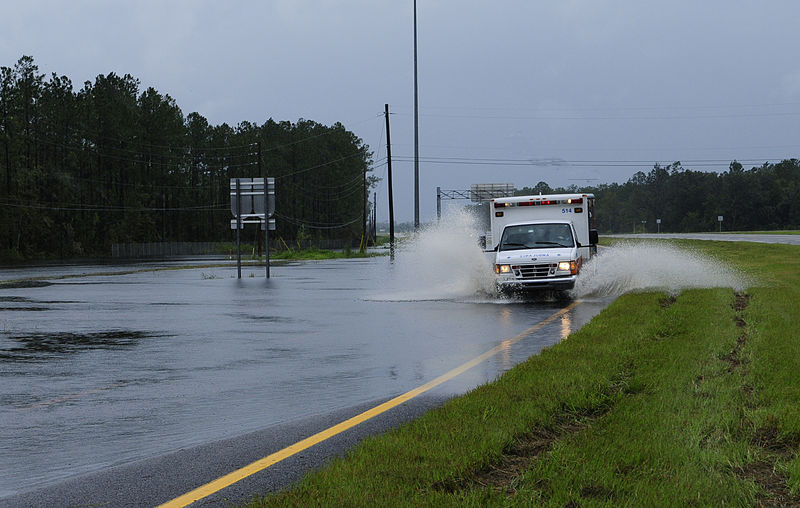 File:FEMA - 37595 - Ambulance on a flooded road in Florida.jpg