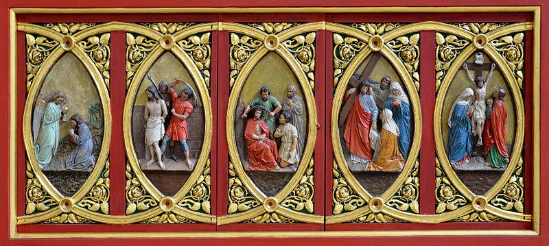File:FN Ailingen Pfarrkirche Choraltar Unterbau Relief 0.jpg
