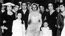 Assi Rahbani and Fairuz on their wedding day