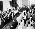 Faisal I in the Iraqi Parliament, 1932.jpg