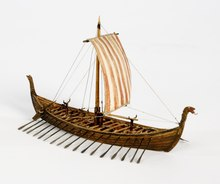 Model of Oseberg Ship.