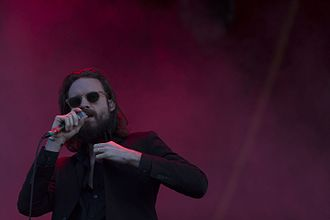 Josh Tillman - Father John Misty performing at Fairgrounds Festival in December 2015