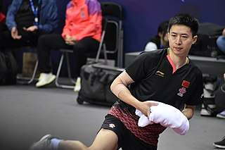 Fang Bo Chinese table tennis player