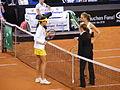 Fed Cup 2013 Germany vs Serbia - Prematch Barthel Ivanovic 04.jpg