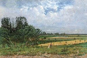 Feliks Brzozowski - Image: Feliks Brzozowski Pejzaż letni z okolic Gołaszewa, 1889