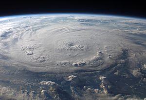 Timeline of the 2007 Atlantic hurricane season - Hurricane Felix near peak intensity, as seen from the International Space Station.