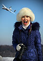 Female Russian photographer with the Antonov An-225 overhead.jpg