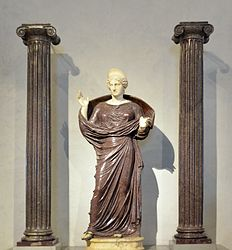 anonymous: Praying Woman between Two Ionic Columns