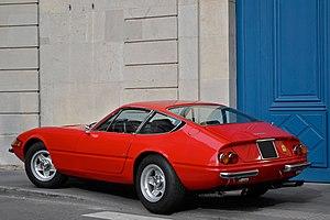 Ferrari Daytona - Rear three-quarters view of a 365 GTB/4