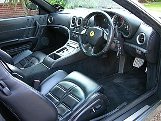 Ferrari 575M Maranello - Interior with F1 paddleshift gearbox