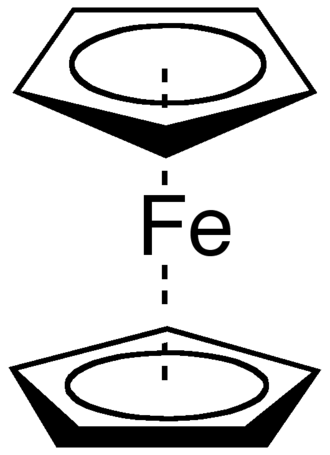 Hapticity - Ferrocene contains two η5-cyclopentadienyl ligands