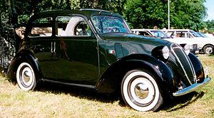 Fiat 1100 (1937) - A 508 C convertible saloon