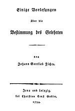 Johann Gottlieb Fichte Wikipedia