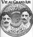 Finale du championnat de France de rugby 1914, les deux capitaines (G. Felix Barbe, D. Jean Caujolle).jpg