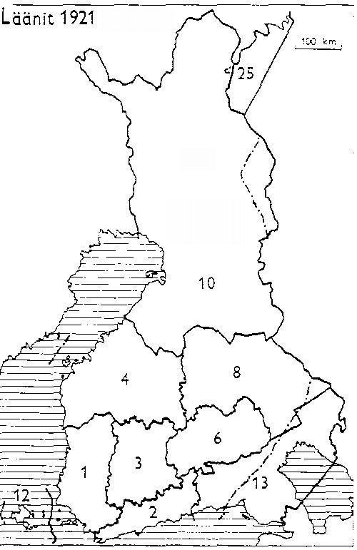 Finnish counties 1921