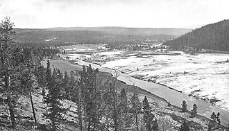 Firehole River - Image: Firehole Riverand Midway Geyser Basin 1875