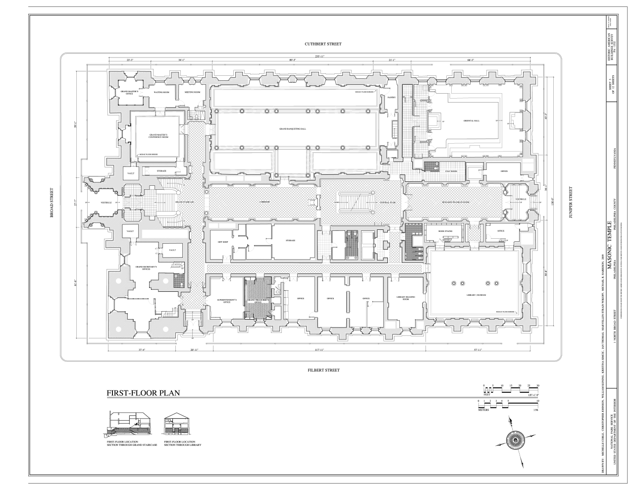 file first floor plan masonic temple 1 north broad