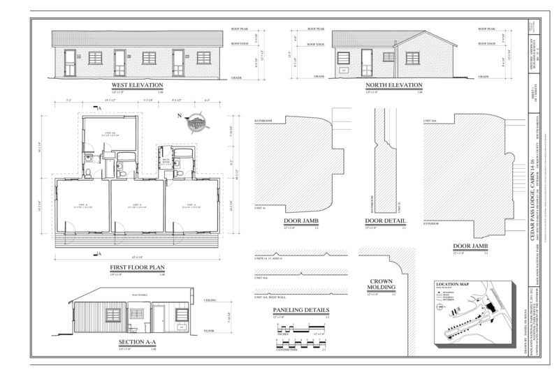 File first floor plan west elevation north elevation for Location of doors and windows