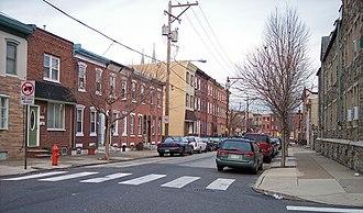 Fishtown, Philadelphia - 1500 block of E. Berks Street, a typical residential street in Fishtown, in 2007.