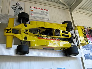 Fittipaldi Automotive - Fittipaldi F5A: The aerodynamics modified version of the F5 was designed by Giacomo Caliri.