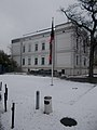 Flag at 108 Andrássy Avenue and the Rausch Villa, 2018 Terézváros.jpg