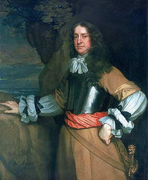 Flagmen of Lowestoft Vice-Admiral Sir William Berkeley 1639-66 by Sir Peter Lely.jpg