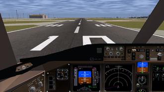 Simulation video game - FlightGear, a flight simulator video game
