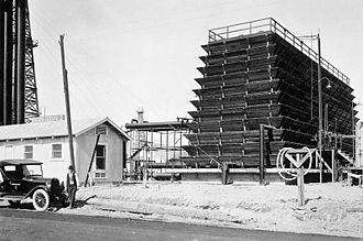 "Fluor Corporation - A Fluor ""Buddha Tower"" water cooling tower from the early 1900s"