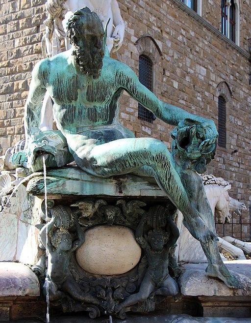 Giambologna e Bartolomeo Ammannati, Fontana del Nettuno (dettaglio Triton del Giambologna), Piazza della Signoria, Firenze
