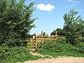 Footpath gate into a sheep pasture - geograph.org.uk - 1355595.jpg