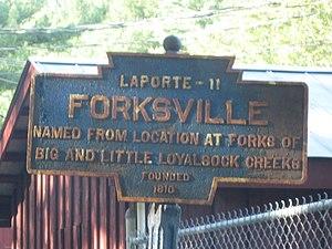 Forksville, Pennsylvania - Image: Forksville, PA Keystone Marker