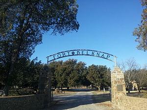 Fort Belknap (Texas) - Image: Fort Belknap Entrance