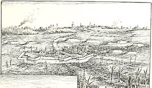 Fort Magruder - Fort Magruder and other Confederate works near Williamsburg