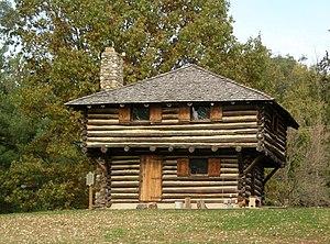 Fort Ouiatenon - Image: Fort Ouiatenon blockhouse front