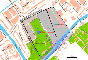 Forum Hadriani - Location of Forum Hadriani in the town Voorburg