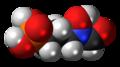 Fosmidomycin 3D spacefill.png