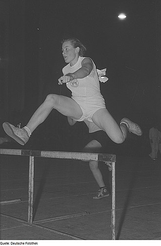 Sports associations (East Germany) - Member of the BSG Wissenschaft during a competition