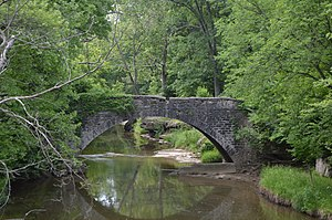 National Register of Historic Places listings in Monroe County, Illinois - Image: Fountain Creek Bridge
