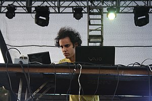 Four Tet - Four Tet performing at FYF Fest 2011 in Los Angeles, California
