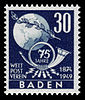 Fr. Zone Baden 1949 57 Weltpostverein.jpg