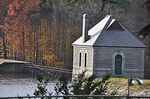 National Register of Historic Places listings in Middlesex County, Massachusetts - Image: Framingham MA Reservoir Number Two Gatehouse