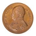 Framsida av medalj med baron Goswin de Stassart, 1839 - Skoklosters slott - 99677.tif